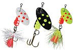 Spotted GLO Panther Martin Lures
